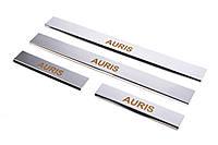 Накладки на пороги Carmos (4 шт, нерж) для Toyota Auris 2007-2012 гг., фото 1