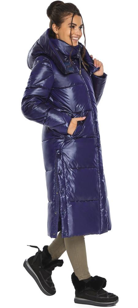 Синяя куртка женская длинная модель 41565