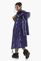 Синяя куртка женская длинная модель 41565, фото 2