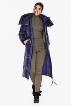 Синяя куртка женская длинная модель 41565, фото 3