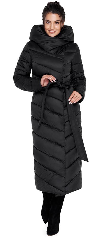 Удобная куртка чёрного цвета женская модель 31016
