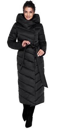 Удобная куртка чёрного цвета женская модель 31016, фото 2