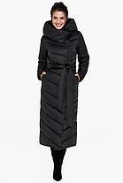 Удобная куртка чёрного цвета женская модель 31016, фото 3