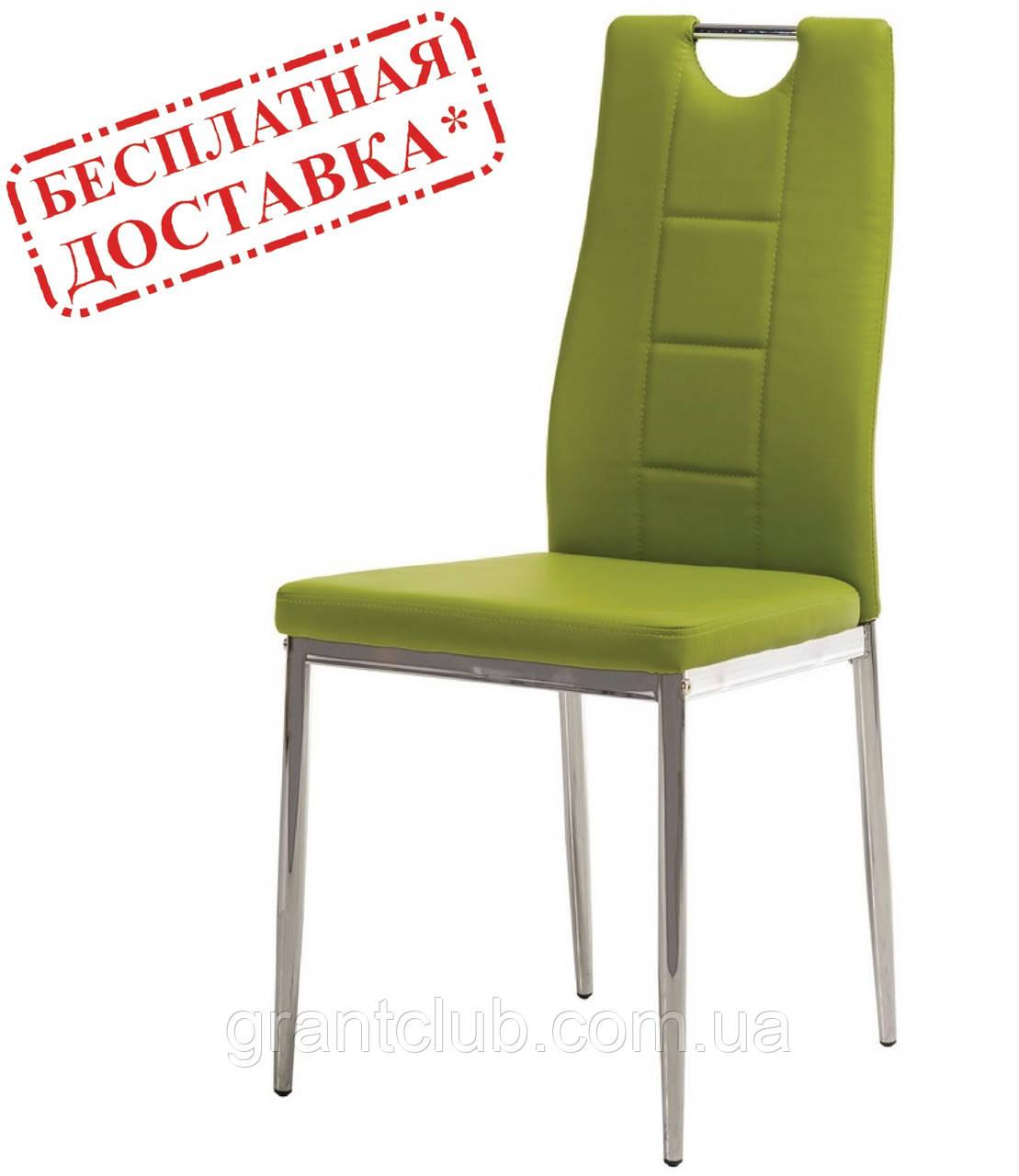 Обеденный мягкий стул N-67 оливковый кожзам Vetro Mebel (бесплатная доставка)