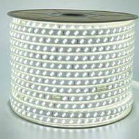 """Светодиодная LED лента гибкая 220V PROlum™ IP68 5730\120 Series """"S"""", Белый (5500-6000К)"""