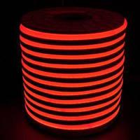 """Светодиодный LED гибкий неон PROLUM 2835\120 IP68 220V - SERIES """"GL"""" PRO, Красный"""