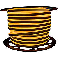 """Светодиодный LED гибкий неон PROLUM 2835\120 IP68 220V - SERIES """"GL"""" PRO, Желтый"""