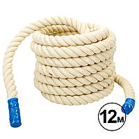 Канат тренировочный для кроссфита 12 м, d-4 см BATTLE ROPE R-6227-12
