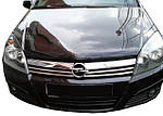 Накладки на решетку (4 шт, нерж.) для Opel Astra H 2004-2013 гг.