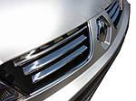 Renault Trafic 2001-2015 рр. Накладки на решітку радіатора (6 шт, нерж) OmsaLine - Італійська нержавійка