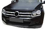 Volkswagen Amarok Накладки на решітку (широкі смужки, 4 шт, нерж)