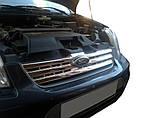 Ford Connect 2010-2014 рр. Накладки на передні ґрати (нерж.) Carmos - Турецька сталь