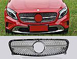 Mercedes GLA 2014-2016 Передняя решетка Diamond Silver