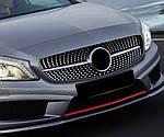 Mercedes A W176 Передняя тюнинг решетка Diamond Silver (2015-2018)