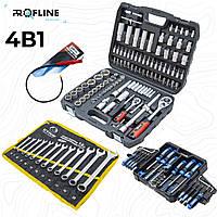 Набор инструментов 4в1 (набор инструментов 108 ед+набор отверток и бит 63 ед+набор ключей 12 ед+магнит )