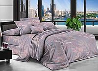 Евро комплект постельного белья 200*220 Бязь хлопок полиэстер (17373) Бюджетное постельное белье