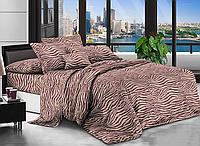 Евро комплект постельного белья 200*220 Бязь хлопок полиэстер (17379) Бюджетное постельное белье