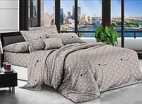 Евро комплект постельного белья 200*220 Бязь хлопок полиэстер (17374) Бюджетное постельное белье