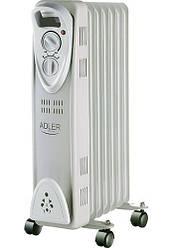 Обігрівач масляний Adler AD 7807 на 7 секцій потужність 1500w