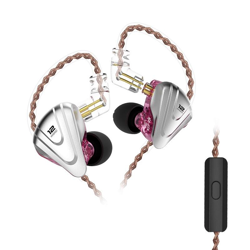 Наушники KZ ZSX с микрофоном purple