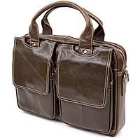 Ділова сумка Vintage 20443 Коричнева, фото 1