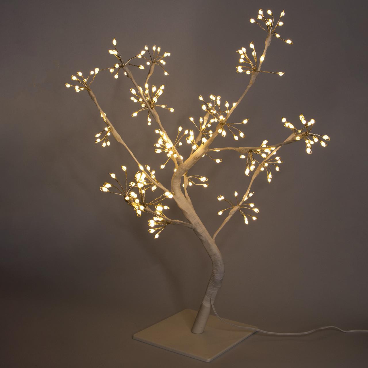 Светодиодная декорация - дерево на подставке, 45*48*50 см, 256л, белый, теплый белый, IP44 (141226)