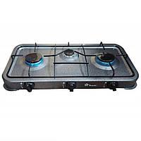 Газовая кухонная плита настольная Domotec 3 конфорки, фото 1