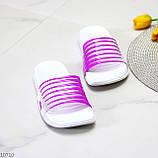 Удобные силиконовые фиолетовые шлепанцы для пляжа низкий ход, фото 3