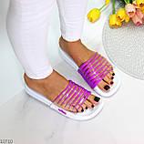 Зручні силіконові фіолетові шльопанці для пляжу низький хід, фото 7