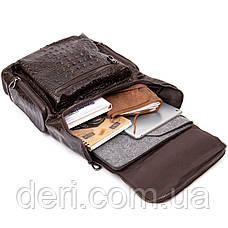 Рюкзак під рептилію шкіряний Vintage 20430 Коричневий, фото 3
