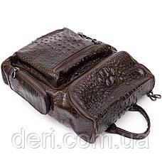 Рюкзак під рептилію шкіряний Vintage 20430 Коричневий, фото 2