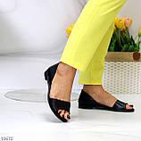 Шикарные босоножки черные из натуральной кожи, фото 3