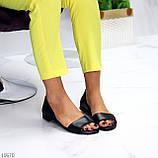 Шикарные босоножки черные из натуральной кожи, фото 7