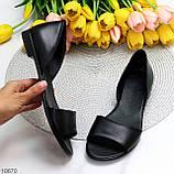 Шикарные босоножки черные из натуральной кожи, фото 8