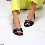 Шикарные босоножки черные из натуральной кожи, фото 9