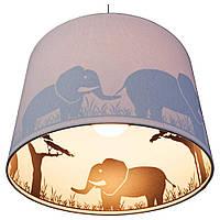 Подвесной светильник для детской комнаты с принтом слона внутри