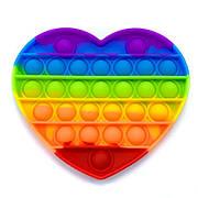Pop It Антистресс Игрушка - (Поп Ит - Попит - Popit) - Радужное Сердце