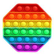 Pop It Антистресс Игрушка - (Поп Ит - Попит - Popit) - Радужный Восьмиугольник