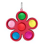 Simple Dimple Антистрес Іграшка Сімпл Дімпл - Pop It - Поп Іт - Попит - Popit) - Червона Квітка з карабіном