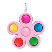 Simple Dimple Антистрес Іграшка Сімпл Дімпл - Pop It - Поп Іт - Попит - Popit) - Рожева Квітка з карабіном