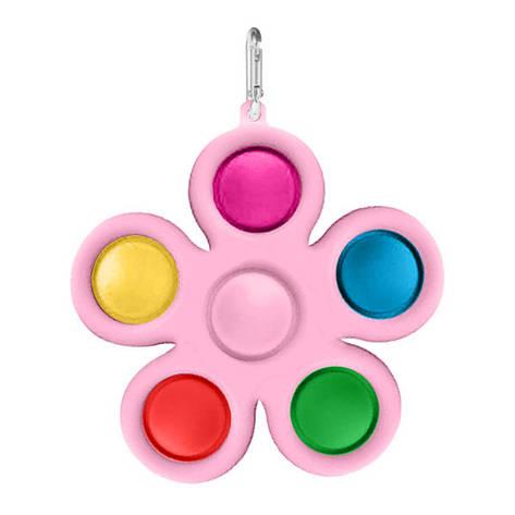 Опт Simple Dimple Антистресс Игрушка Симпл Димпл - (Pop It - Поп Ит - Попит - Popit) - Розовый Цветок с, фото 2