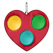 Simple Dimple Антистресс Игрушка Симпл Димпл - (Pop It - Поп Ит - Попит - Popit) - Красное Сердечко с