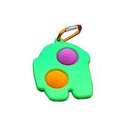 Simple Dimple Антистрес Іграшка Сімпл Дімпл - Pop It - Поп Іт - Попит - Popit) - Зелений Брелок Амонг Ас з