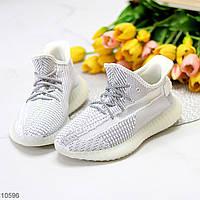 Комфортные светлые белые текстильные тканевые женские кроссовки в ассортименте (обувь женская)