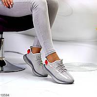 Комфортные серые текстильные тканевые женские кроссовки в ассортименте (обувь женская)