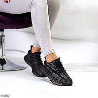 Комфортные черные текстильные тканевые женские кроссовки в ассортименте (обувь женская)