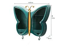 """Органайзер-полиця для косметики """"Метелик"""" зелений W-31"""