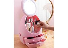 Органайзер для косметики з дзеркалом W-5 рожевий