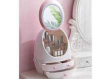 Органайзер для косметики з LED дзеркалом W-1 білий