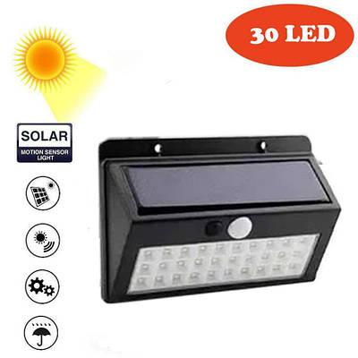 Сенсорный светильник на солнечной батарее Solar SL-A30 30 LED Черный